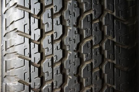 Car tire background, Tyre texture closeup background. Archivio Fotografico - 129294262