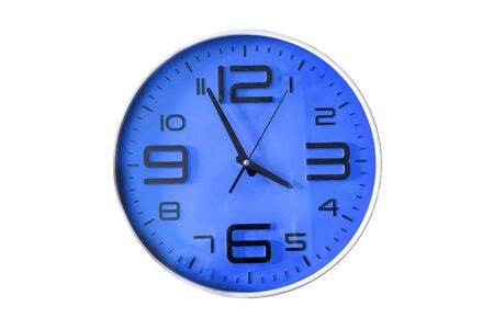 wall clock isolated on the white background Archivio Fotografico - 129294342