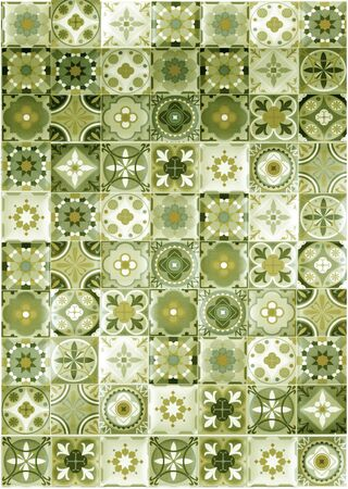 The wall or the floor are decorated with colorful of tiles, Colorful vintage ceramic tiles wall decoration, tiles background. moroccan tile pattern background.