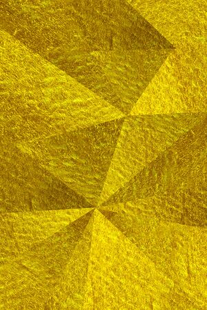 Abstract triangle gold background texture Stok Fotoğraf