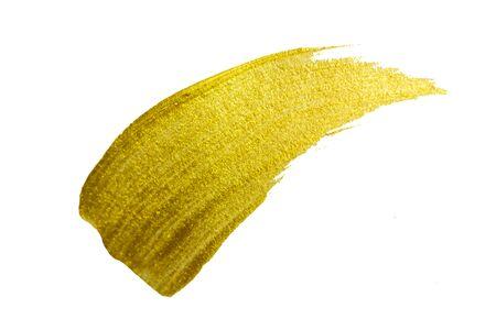 Coup de pinceau de peinture or. Illustration d'art texturé scintillant d'or abstrait.