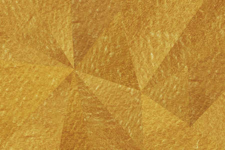 Abstract triangle gold background texture 免版税图像