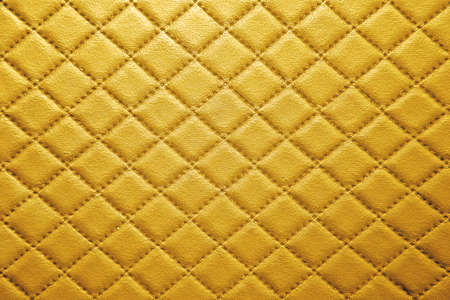 Gold Leather texture with seam background Foto de archivo