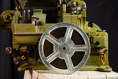 16mm: photo of part old war movie projector