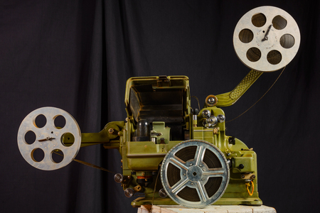 16mm: photo of an old war movie projector