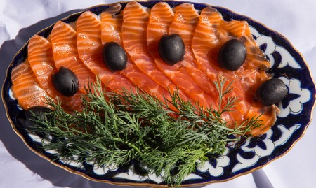broil: Domestic Japanese food with traditional fresh fish Broil with salt of salmon