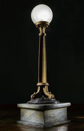floor lamp: vintage stand floor lamp isolated on black
