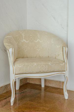 luxurious: Luxurious  white antique chair.