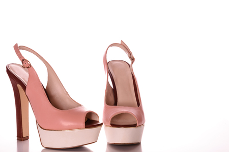 peep toe: High Heels with peep toe and ankle-strap