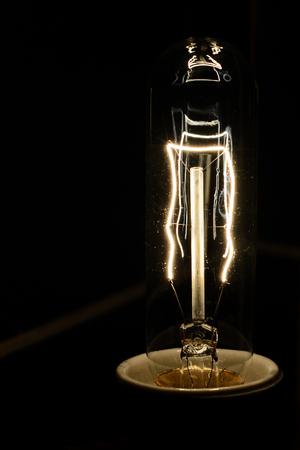 Decorative antique edison style filament light bulb.