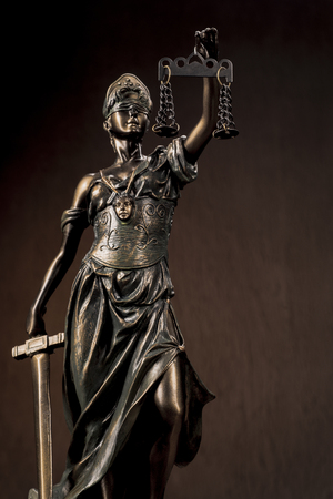 Themis Statue Justice Scales Law Lawyer Business Concept. - Image