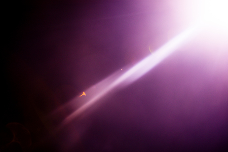 Flash of a distant abstract star. Abstract sun flare. The lens flare is subject to digital correction. - Image