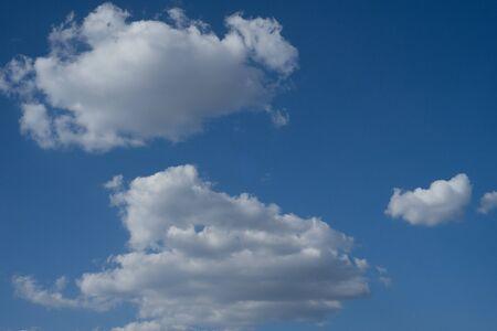 Niebo z pięknymi chmurami pogoda natura chmura niebieski