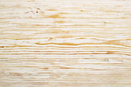 Top view on white brushed wooden texture. - image