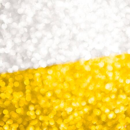 Abstract Christmas background wallpaper diamond and effect lighting for design. Golden and silver bokeh glitter lights