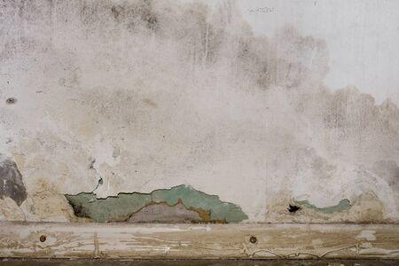 Flooding rainwater or floor heating systems, causing damage, peeling paint and mildew. - image Reklamní fotografie