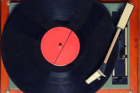 Stereo-Plattenspieler Vinyl-Plattenspieler Analog Retro Vintage Vorderansicht