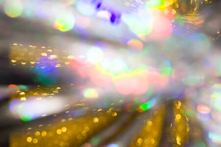 Multicolored rainbow large bokeh effect background - image