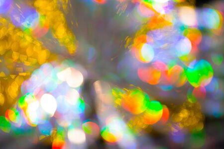 Multicolored rainbow large bokeh effect background - image