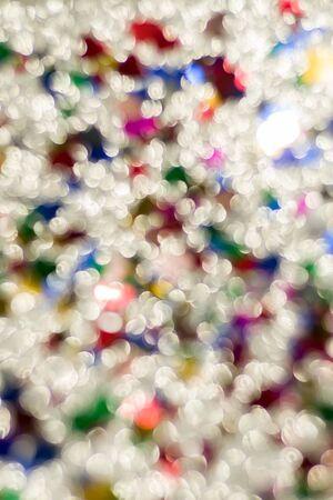 Abstract glitter color lights chrismas background. de-focused - image Standard-Bild - 150361648
