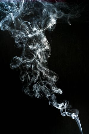 smoke cloud with black background. fog texture - image Standard-Bild - 150361651