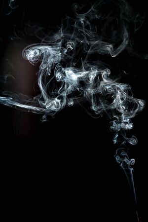 smoke cloud with black background. fog texture - image Standard-Bild - 150222710