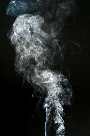 smoke cloud with black background. fog texture - image Banque d'images