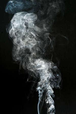 smoke cloud with black background. fog texture - image Stockfoto