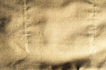 Old Faded Military Army Camouflage Backpack Or Bag Or Uniform Horizontal Background Texture Close-up Top View.