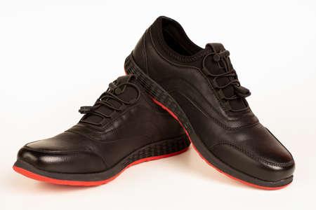 Sport shoe isolated on white background. Closeup 免版税图像