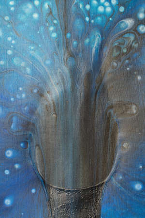 Fluid Art. Abstract colorful background, wallpaper, texture in pastel colors. Mixing paints. Abstract acrylic face