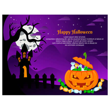 flat design for halloween. halloween background 向量圖像
