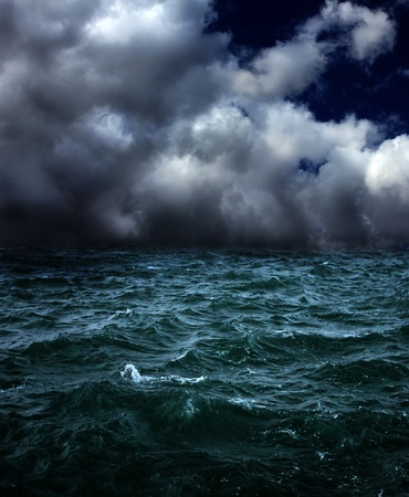 high sea: dark stormy landscape