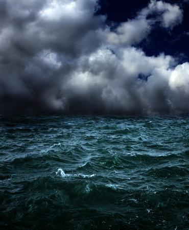 storm sky: dark stormy landscape