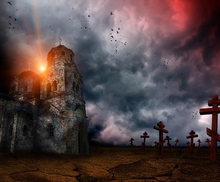 düsteren Apokalypse Standard-Bild