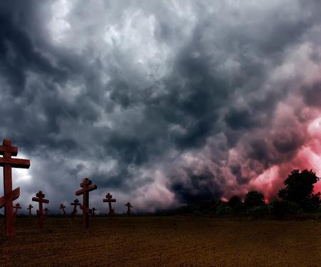 gloomy apocalypse Stock Photo