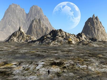 abandonment: colorful fantasy landscape