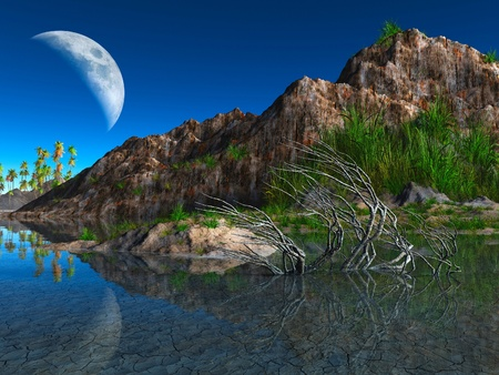 colorful fantasy landscape photo
