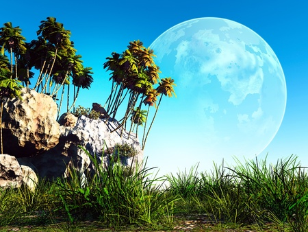 colorful fantasy landscape Stock Photo - 11513880