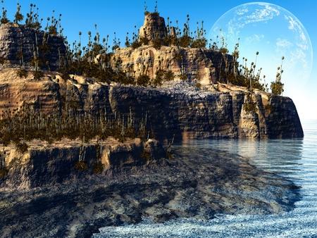 colorful fantasy landscape photo