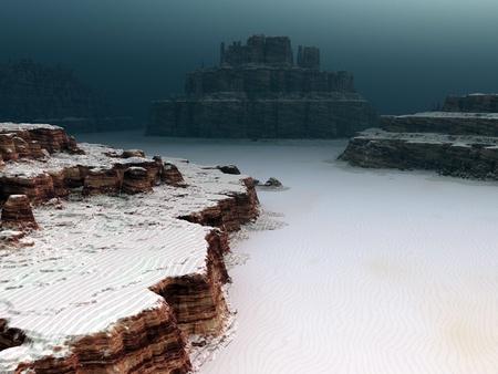 moon  desert: Fantasy landscape