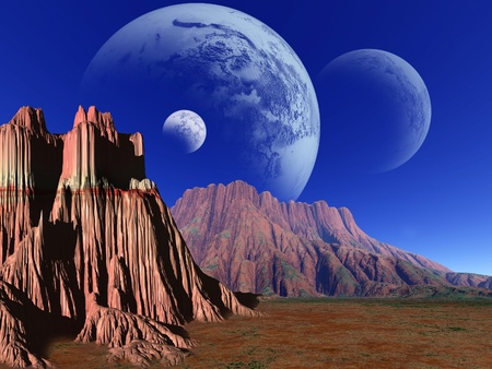 Fantasy landscape photo