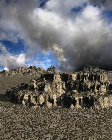 Dark fantasy landscape photo