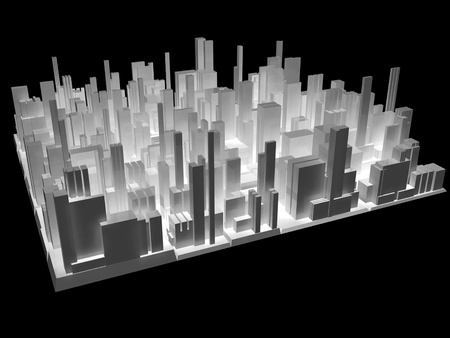 model home: 3d city
