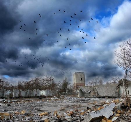 Panorama sombrío Apocalipsis Foto de archivo