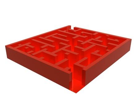 Labyrinth illustration. 3d rendered image.  illustration