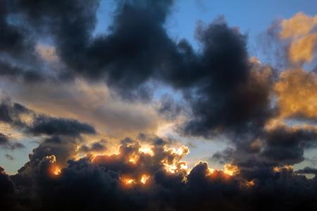 precipitation: Stormy sky