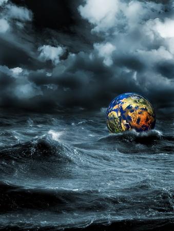 Gloomy apocalypse landscape Stock Photo - 12531687