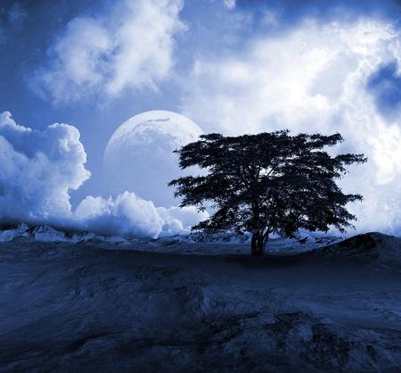 scenic background: Desert landscape