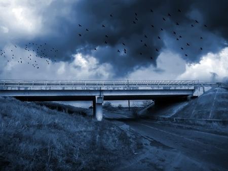 gloomy:  Gloomy apocalypse landscape